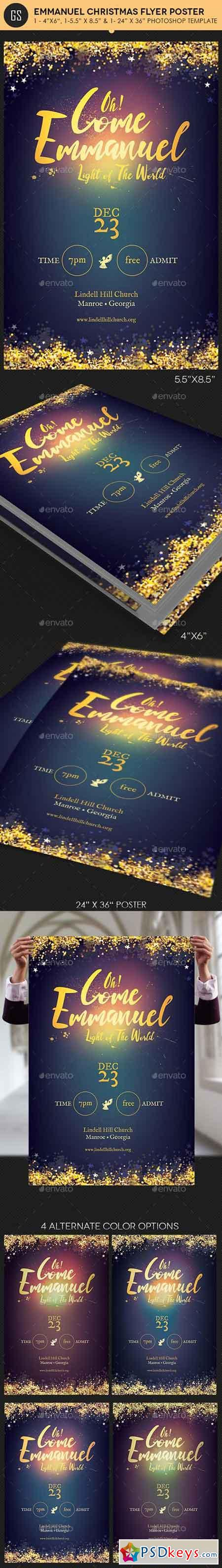 Emmanuel Christmas Cantata Flyer Poster Template - 18669995