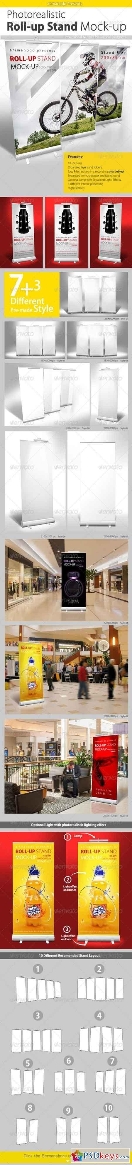 Roll up Banner Stand Mock up 7596115