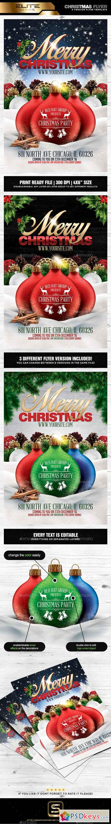 Christmas Party Flyer Template 18898331