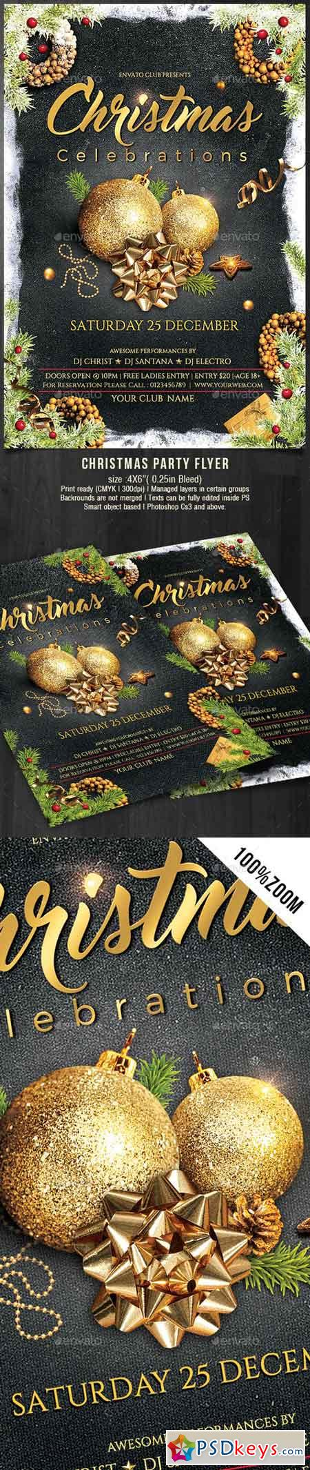 Christmas Flyer 19102626 » Free Download Photoshop Vector