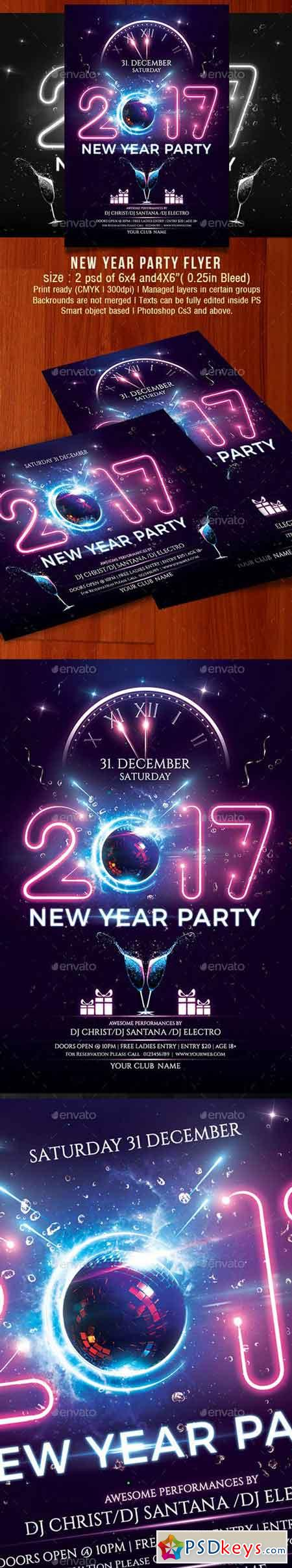 New Year Party Flyer - 18924235