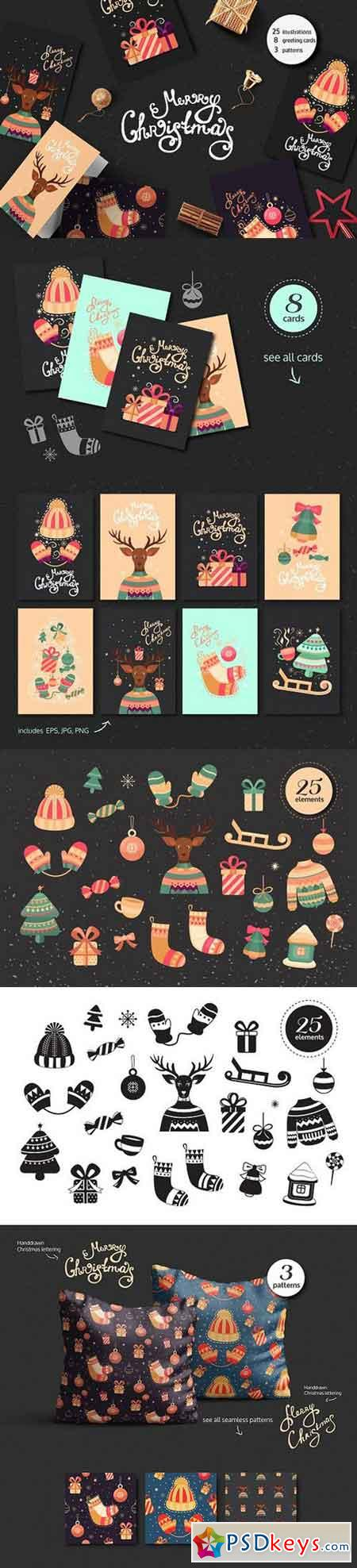 Christmas cards and illustrations 1115591