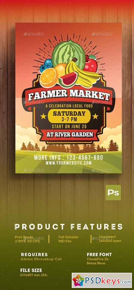 Farmer Market Flyer 16515694