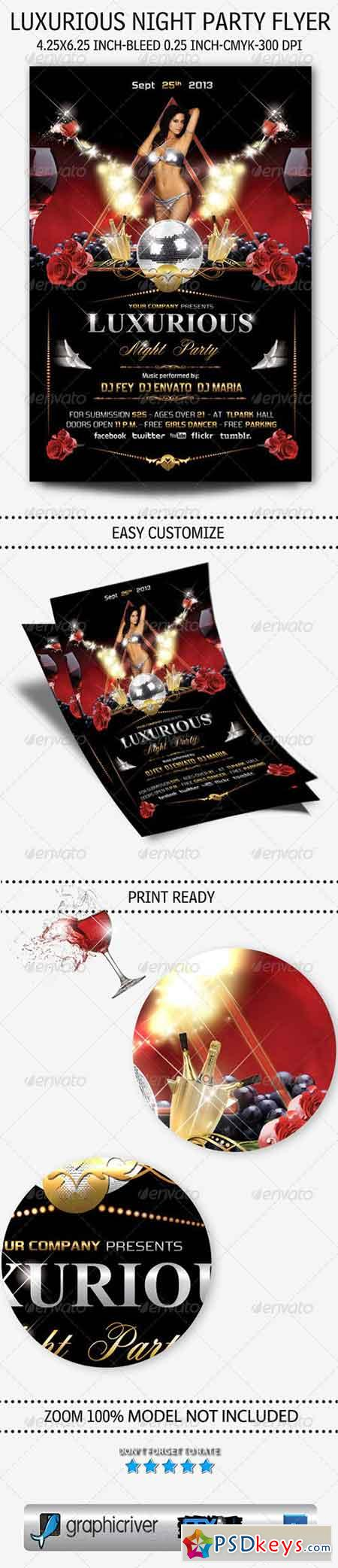 Luxurious Night Party Flyer 5483436