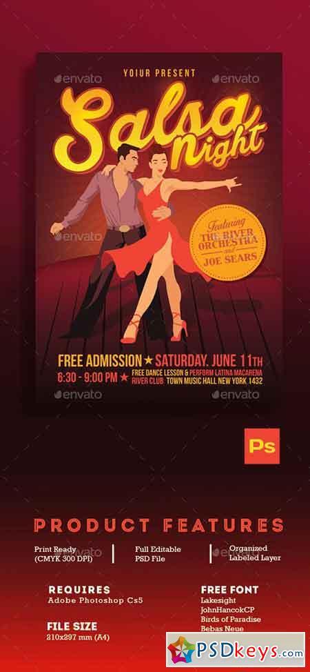 salsa night flyer template 16454998  u00bb free download
