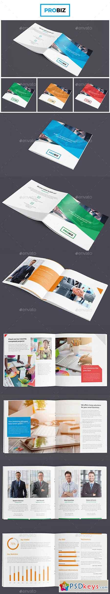ProBiz – Business and Corporate Portfolio Bi-Fold Square 19079782