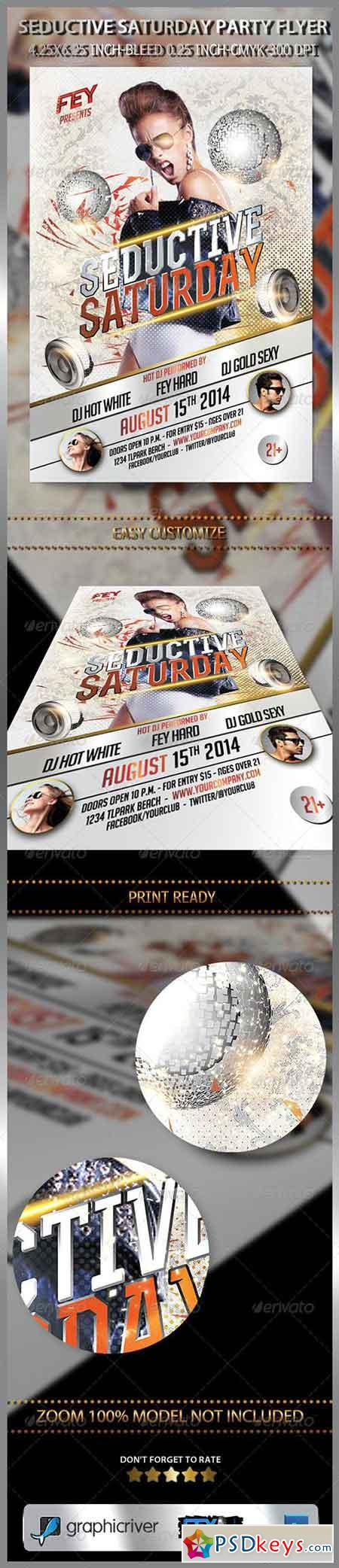 Seductive Saturday Party Flyer 7352257