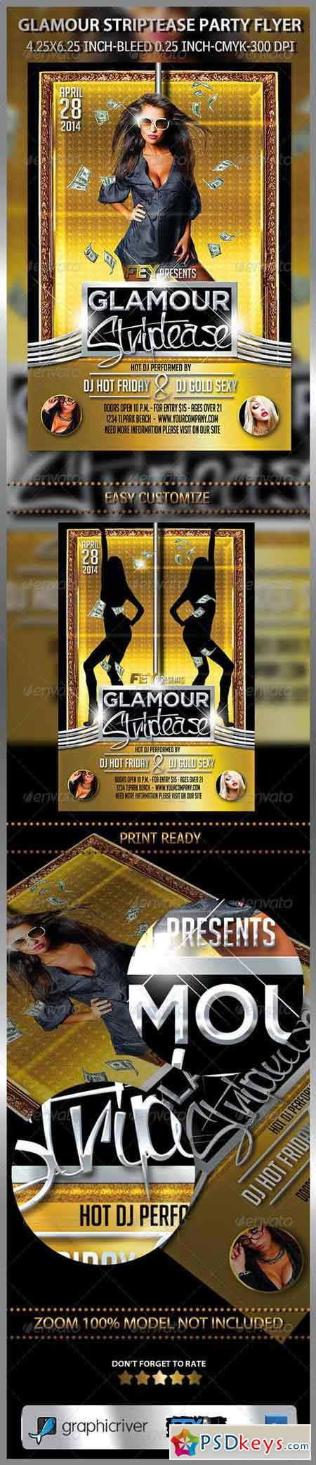 Glamour Striptease Party Flyer 7533550