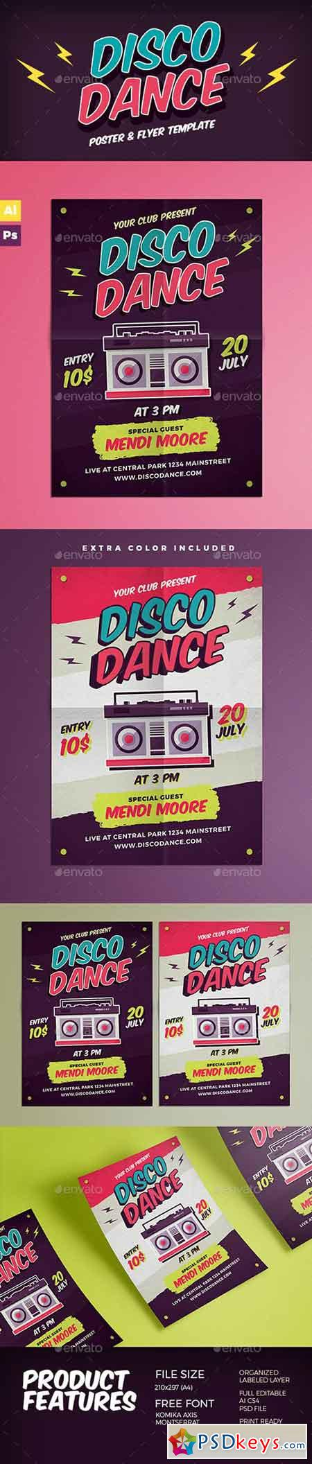 Disco Dance Poster Flyer 15608465