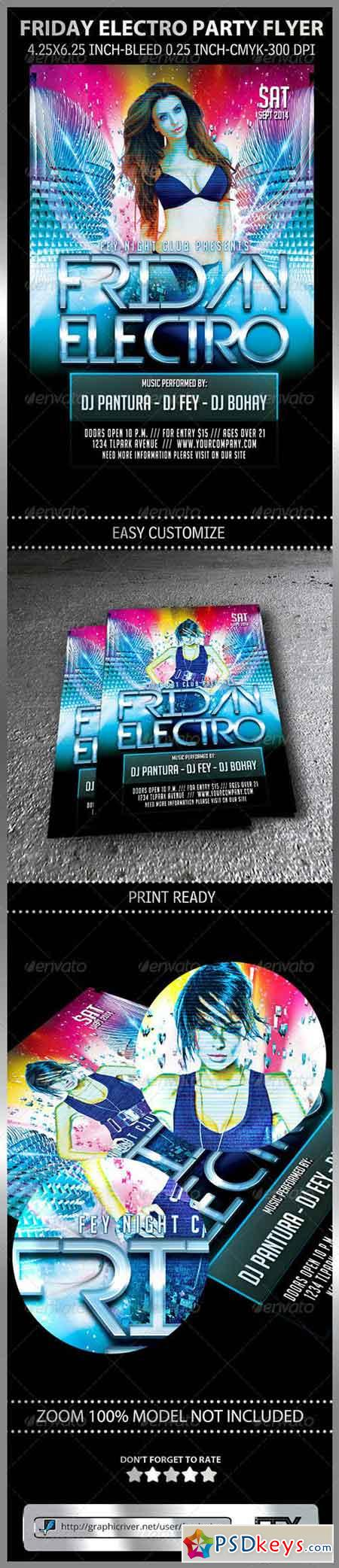 Friday Electro Party Flyer 8598113