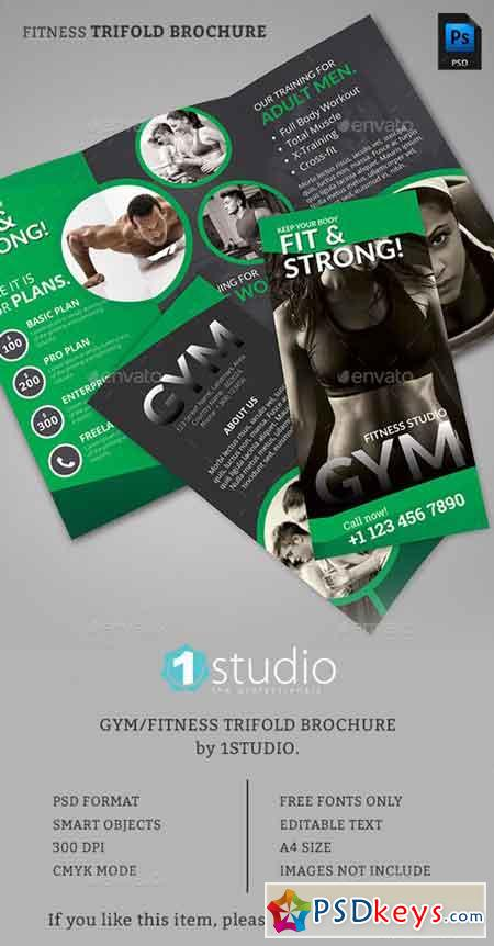 Fitness trifold brochure 01 13212430 free download for Fitness brochure design