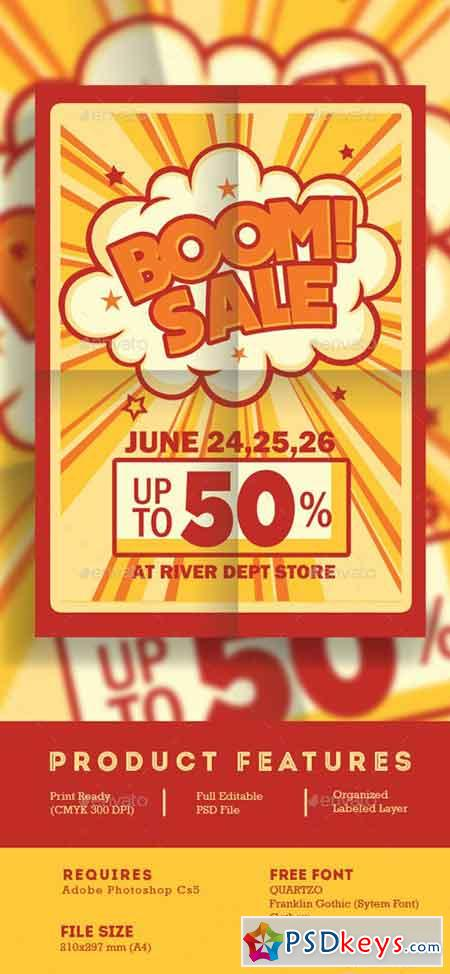 Retro Boom Sale Promotion Flyer 16670132