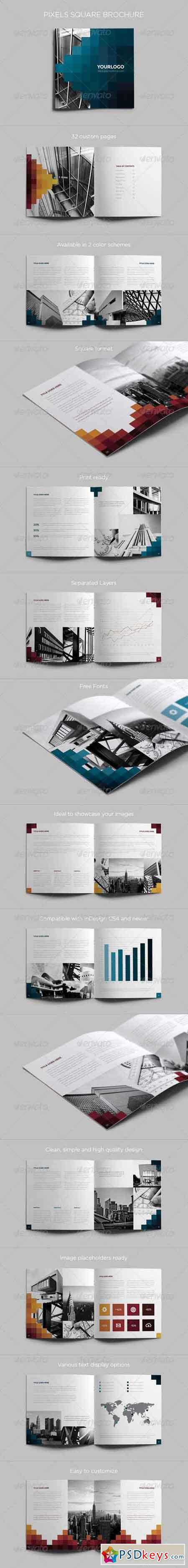 Pixels Square Brochure 6586956