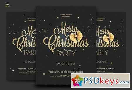 Golden Christmas Flyer - 2 formats 1069772