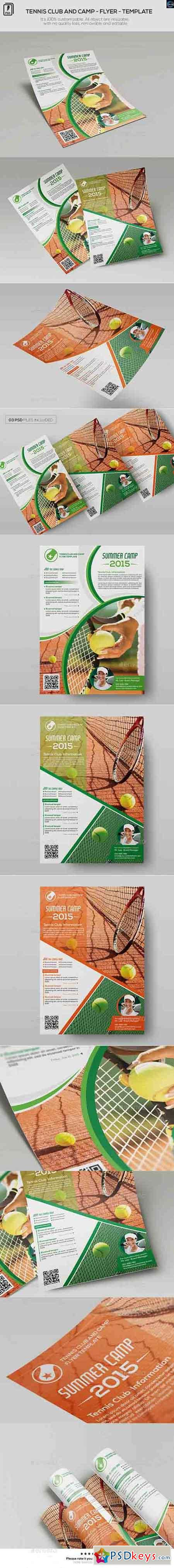 Tennis Club and Camp - Flyer Template 12097296