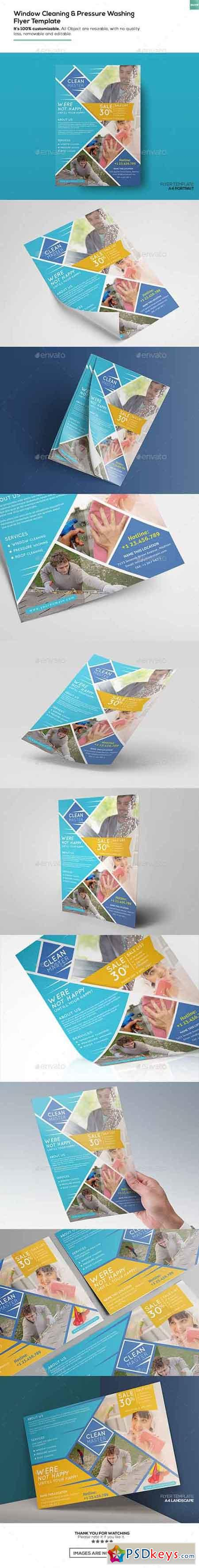 window cleaning pressure washing flyer template  window cleaning pressure washing flyer template 16345761