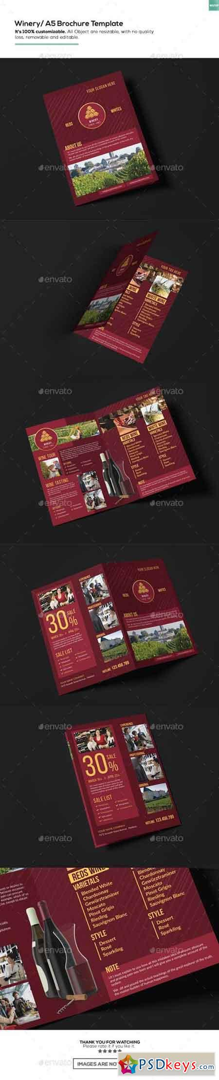 Winery A5 Brochure Template 15911030