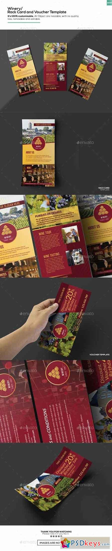 Winery Rack Card and Voucher Template 15911229