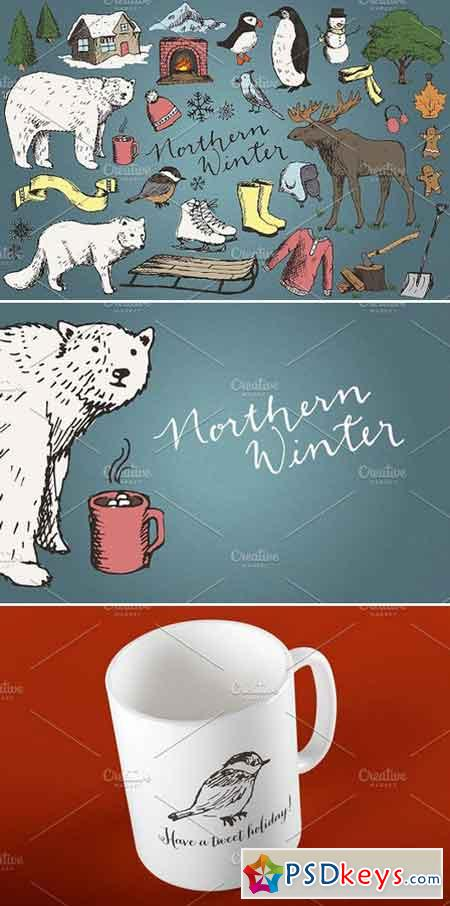 Snowy Winter Illustrations Clipart 476587