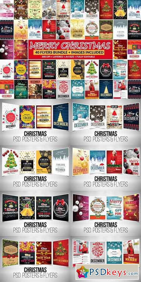 40 Christmas Event Flyer Bundle 976921