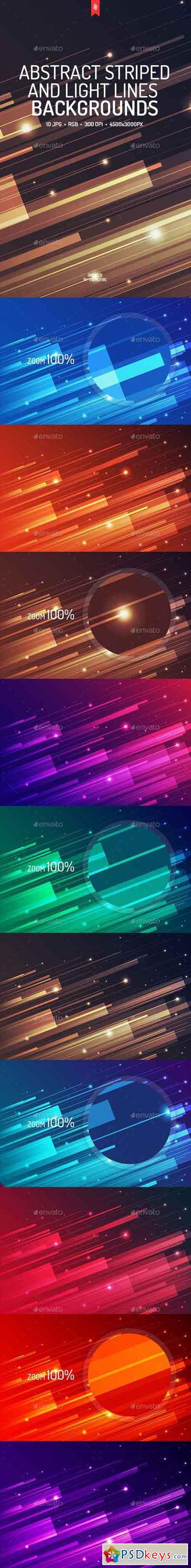 Abstract Striped and Light Lines Backgrounds 19226560