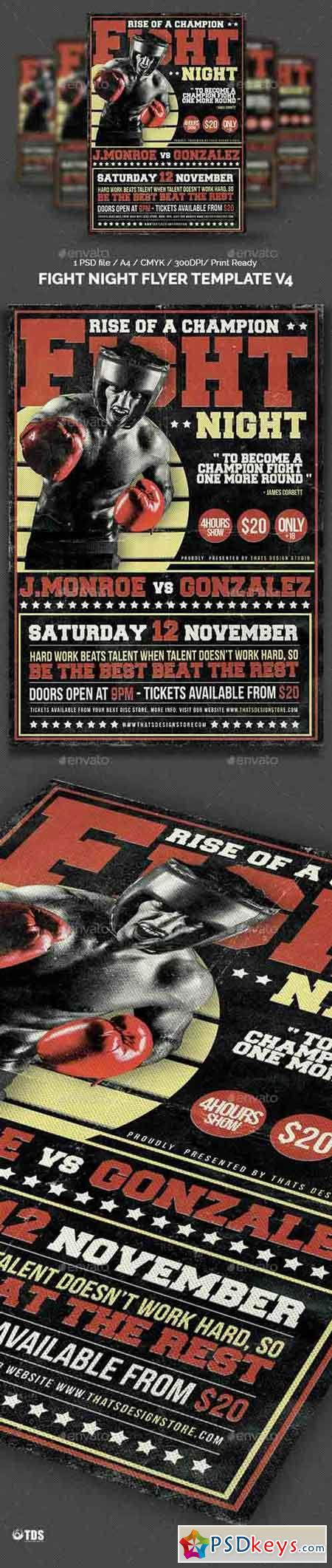 Fight Night Flyer Template V4 14428508