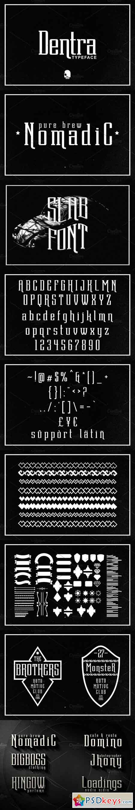 Dentra Typeface 1121611