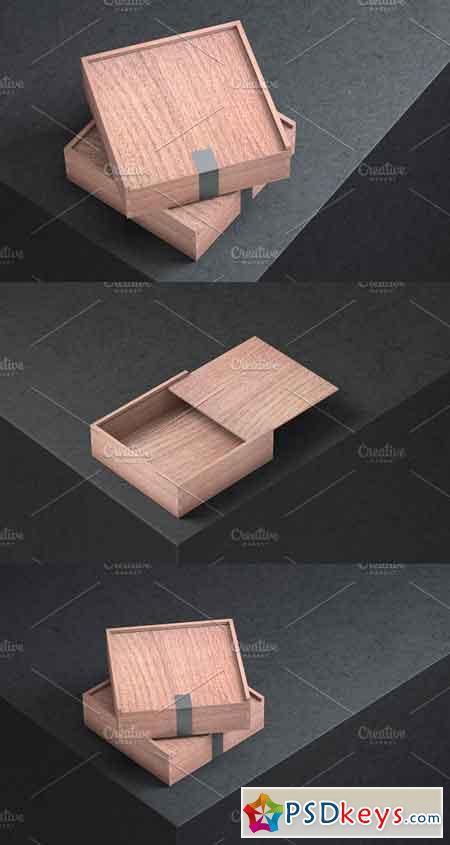 Mockup of Wooden Box- 3 Photo 1123512