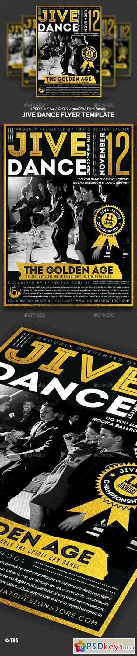 Jive Dance Flyer Template 13990263