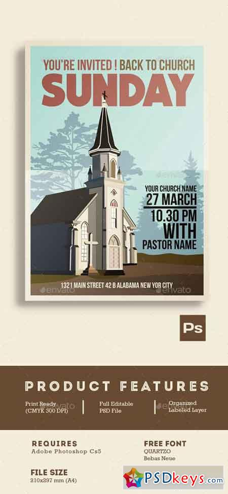 Church event flyer poster 15285667 free download for Free church flyer templates photoshop