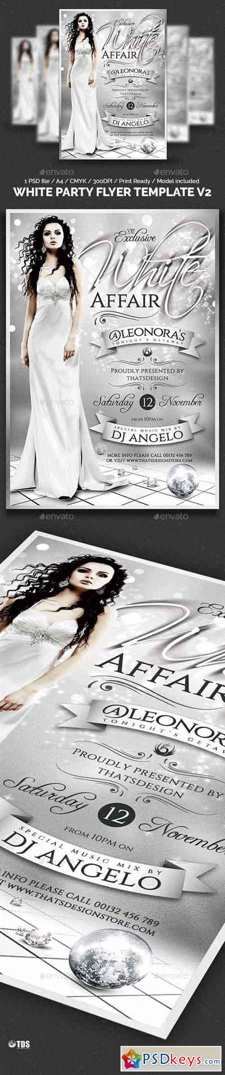 White Party Flyer Template V2 13327897