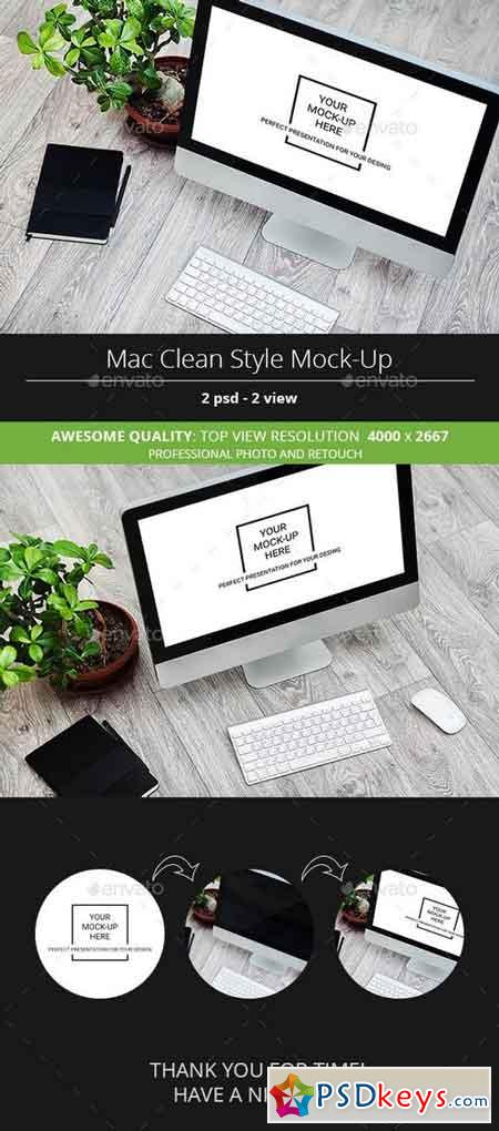 Mac Clean Style Mock-Up 13333734