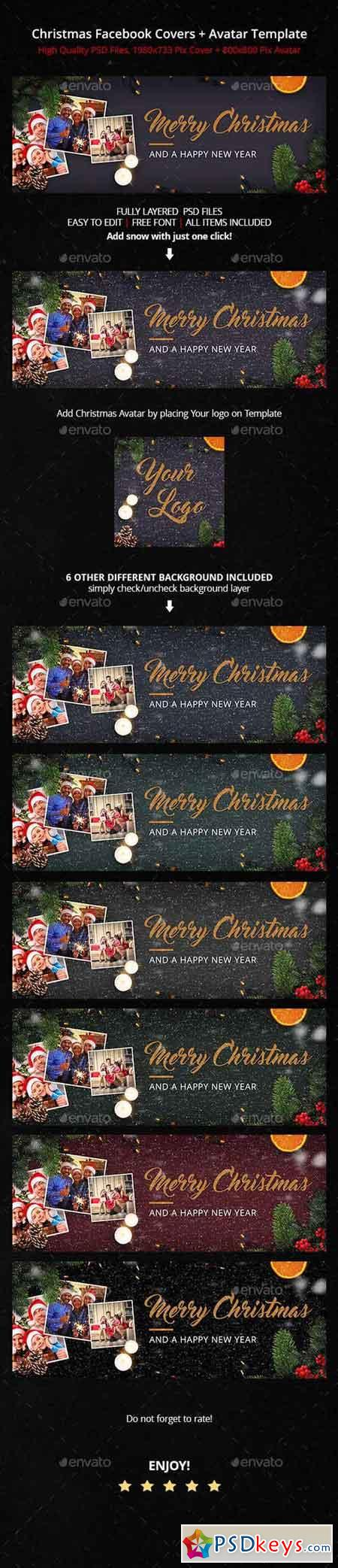 Family Christmas Facebook Cover 19157065