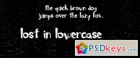 Lost In Lowercase font
