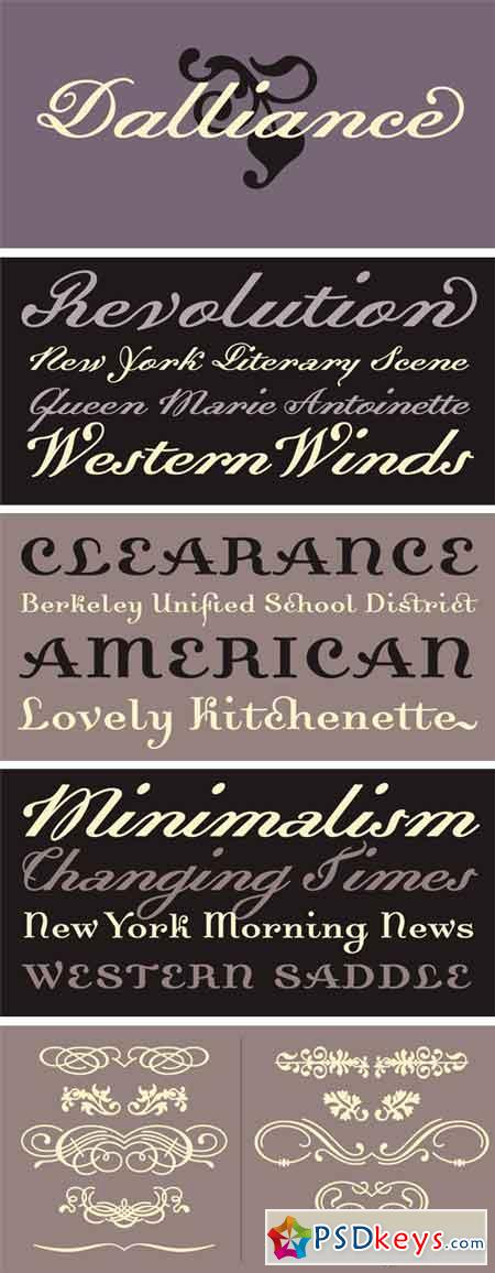 Dalliance Font Family