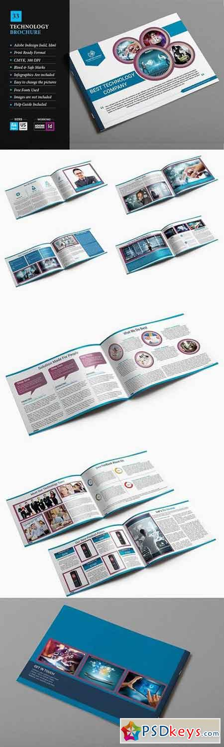 Technology Brochure Template    Free Download Photoshop