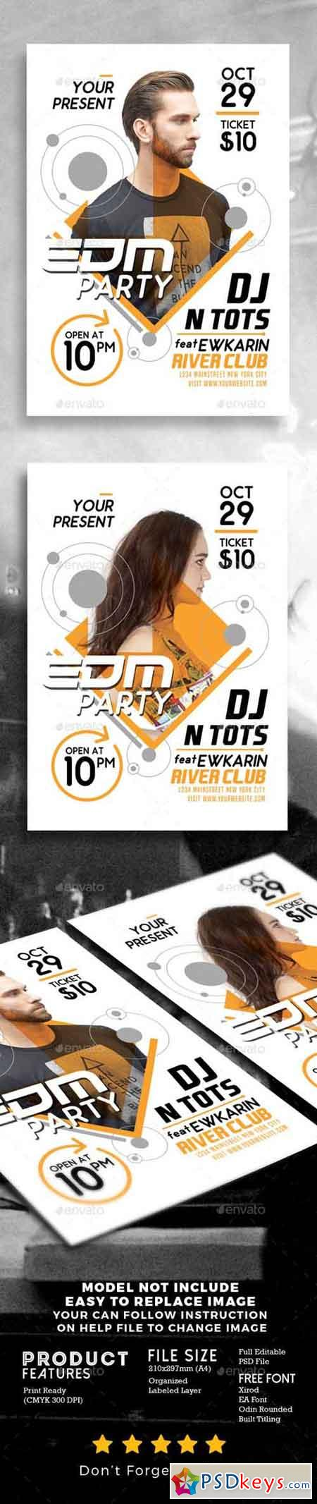 html edm template - edm party flyer template 19223204 free download