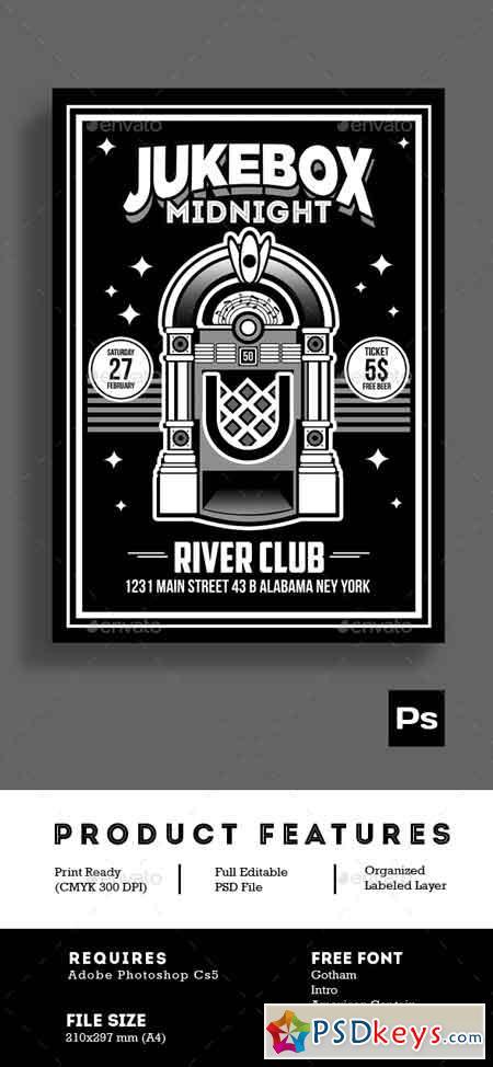 Jukebox Midnight Poster Flyer 14971824