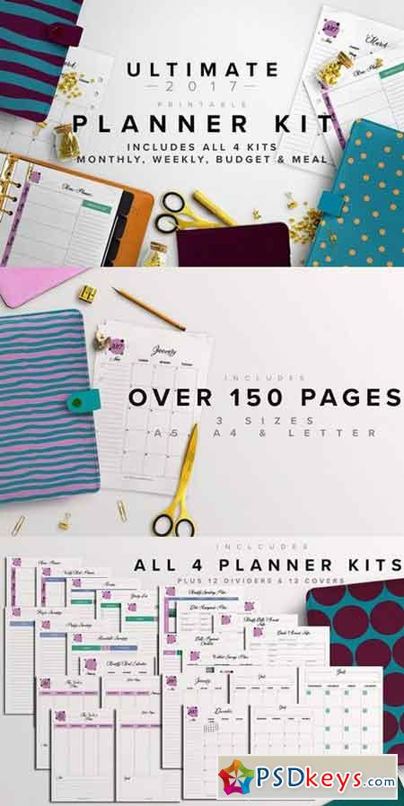 2017 Ultimate Planner Kit- 3 Sizes 1137917