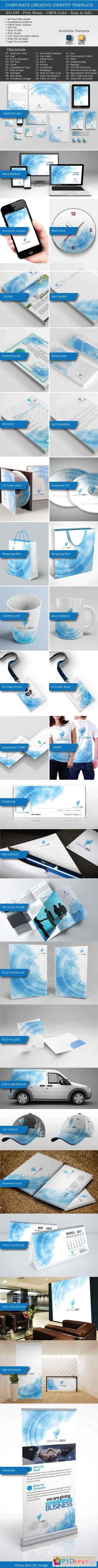 Creative Idea Corporate Identity set 669563