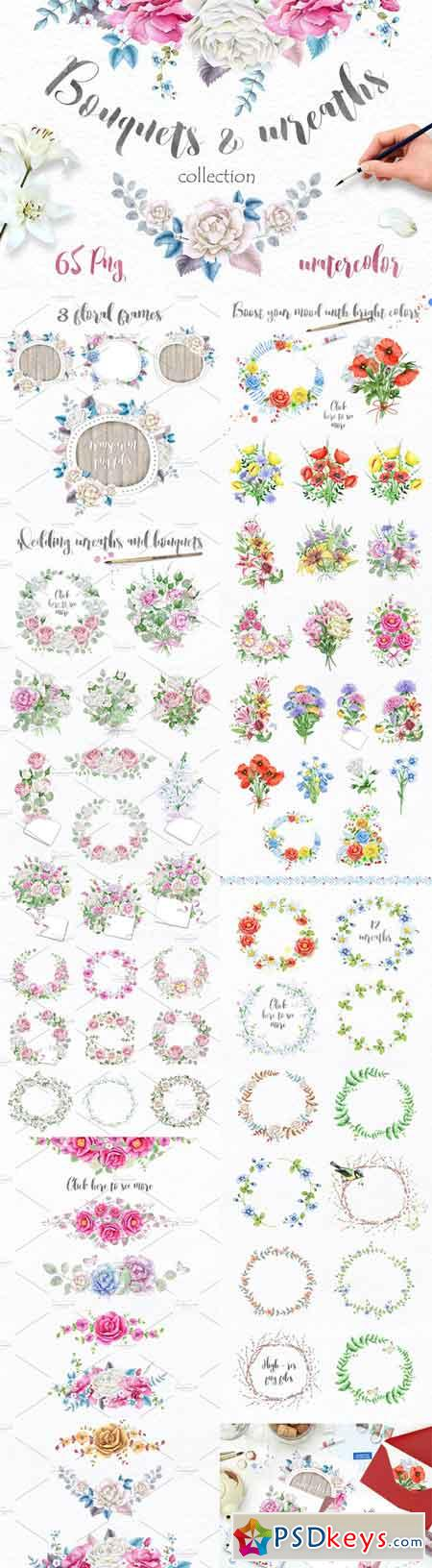 Wreaths and Bouquets collection 683319