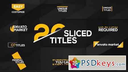20 Sliced Titles Pack 17010832 - After Effects Projects