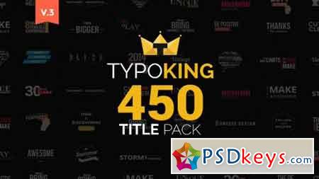 TypoKing Pack of Titles Typos 11263341 (with 27 December 16 update) - After Effects Projects