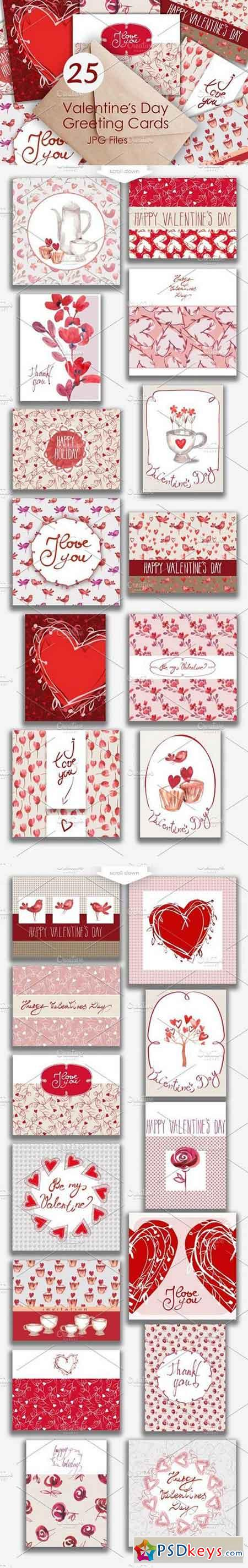 25 Valentines Day Greeting Card 1049506