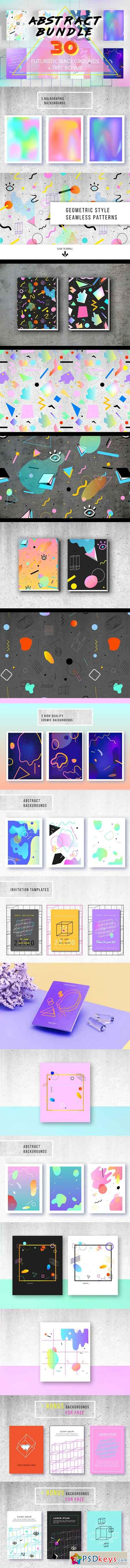 Abstract Bundle. 30 Prints + BONUS 759287