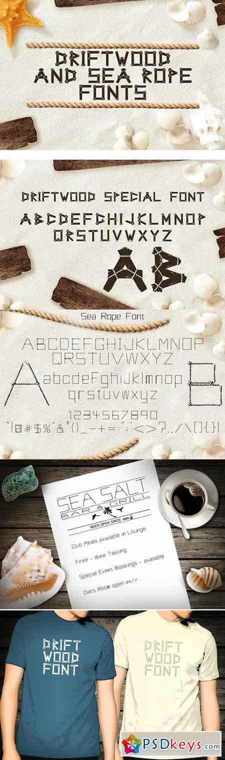 Driftwood & Sea Rope fonts 787483