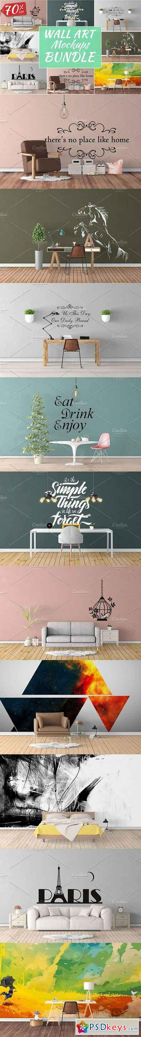 Wall Art Mockups BUNDLE V18 1146698 » Free Download Photoshop Vector