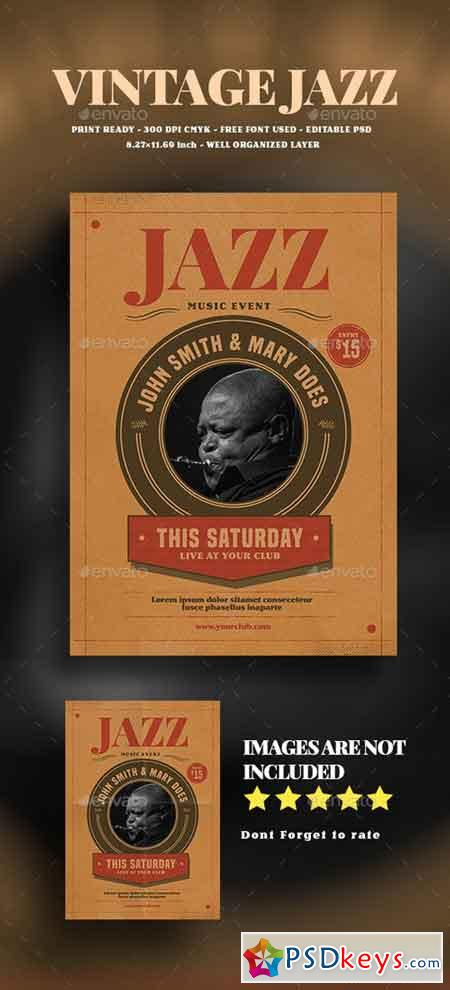 Vintage jazz Event Flyer 19077127