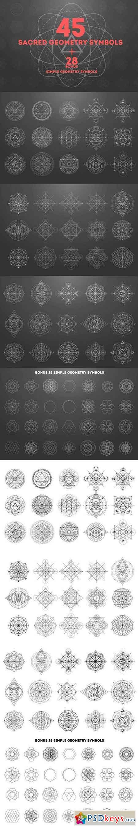 45 Sacred geometry signs 1151634