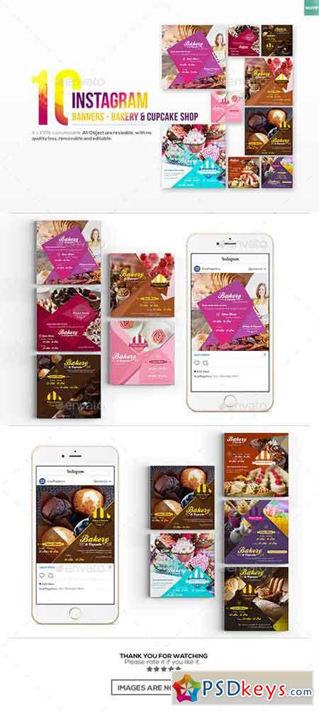 10 Instagram Post Banner - Bakery and Cupcake Shop 19284479